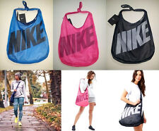 $35 NEW Nike Reversible Tote Crossbody Carry All Gym Beach Bag BLUE PINK BLACK