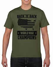 Back To Back World War Champions Shirt Champs Distressed USA Independence Day