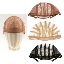 1pcs Lace Mesh Wig Cap for Wig Making Weave Elastic Hair Net Black Brown Beige