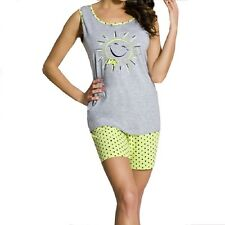 "Womens Girls Shorts and  Top ""Regina"" Summer Pyjama Set Nightwear"