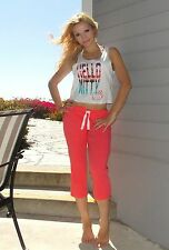 "NWT Sanrio Hello Kitty ""Summer Breeze"" Tank Top and Pants Set M, Tropical Sunset"