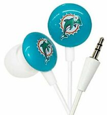Miami Dolphins NFL Ihip Earbud Earphones Works With MP3 ipods iphones Androids