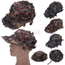 3D Tactics Camouflage Leaf Hat Fishing Hunting Camo Archery Boonie Hat Cap