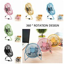 Notebook Laptop Computer Portable Super Mute PC USB Cooler Desk Mini Fan NEW