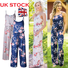 Womens Floral Print Sleeveless Jumpsuit Ladies Summer Casual Romper Playsuit New