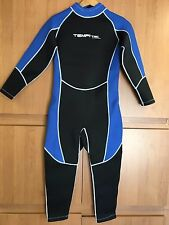 Tempi-Tec Men Full Wetsuit 3 MM size Large to 2X  Rear Zipper Black & Blue Gray