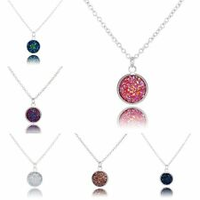 Fashion White Gold Plated Crystal Charm Pendant Necklace Women Wedding Jewelry