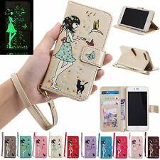 Lovely Luminous Flip Leather Kickstand Wallet Case Cover For iPhone 7 6S Plus 5S