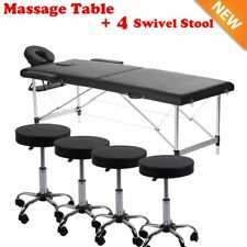 "BestMassage Black 84""L 3"" Pad Portable Massage Table Facial Bed Spa Chair LOT4"