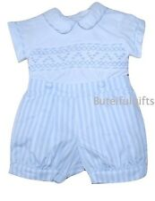 Pretty Originals Baby Boys Traditional Spanish Sky Blue Hand Smocked Set