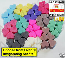 RANDOM MIX 10 HANDMADE SOY MINI HEARTS WAX MELTS TART FRAGRANCE FOR OIL BURNER a