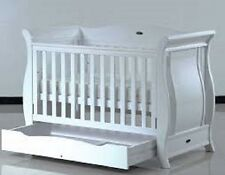 NEW IN BOX - BABY DIRECT - DELUXE SLEIGH COT WITH DRAW WHITE - PICK UP MAITLAND