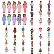 Fashion Dolls Outfit Clothes Dresses Schoolbag For 18 Inch American Girl Doll