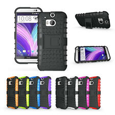 For HTC One M8 Armor Shockproof Heavy Hard Stand Phone Case Cover
