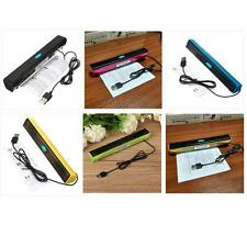Portable USB Audio Sound Bar Stereo Speaker for Laptop Computer PC Notebook YY
