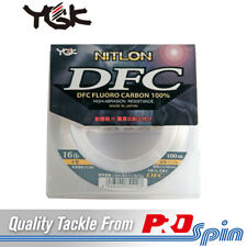YGK Nitlon DFC 100% Fluorocarbon Fishing Leader Line - Choose 4~30lb / 100~70m