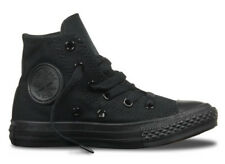 Converse Chuck Taylor Youth All Star High Top Shoes- Black Mono
