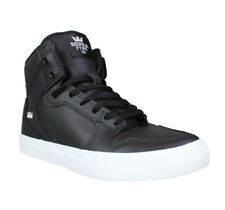 Supra Kids Vaider High Top Shoes- Black/White Youth Boys