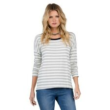 Volcom Ladies Lived In Long Sleeve Striped Tee Shirt