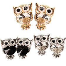 Women's Fashion Owl Cubic Zirconia Alloy Ear Stud Earrings Jewelry Gift Utility