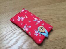 * iPhone 6s / 6s Plus Fabric Padded Case Made Using Cath Kidston Red Sprig *