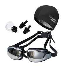Swimming Goggles Women Men Anti Fog UV Swim Goggle With Caps Earplugs Nose Clip