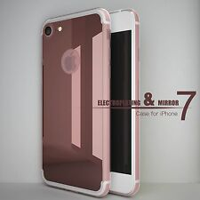 Mirror Back Rubber Crystal Clear Bumper Case Cover For iPhone USA Fast Shipping