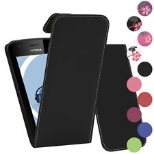 Premium PU Leather Vertical FLIP Pouch Holster Case for Nokia Lumia 710