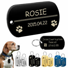 Personalized Army Military Dog Tags Durable Custom Stainless Steel Name Plate