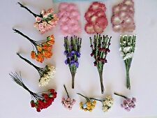 Choice of paper and fabric flowers - Mini Roses/Heather Sprays/Paper Flower