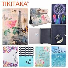 Luxury Stand Wallet Cover For ipad 5 6 Case Fashion Floral Tower Pattern Leather