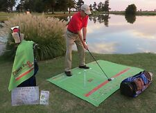 Power Pro2Go Portable Golf Swing Trainer Practice Mat System Club Training Aid B