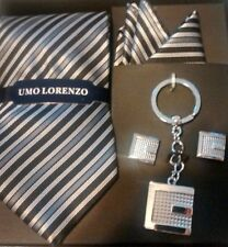 Umo Lorenzo Striped Tie Gift Set
