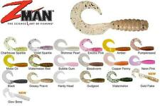 Zman Grubz plastic lures 2 2.5 3.5 and 9 inch varieties mixed colours soft
