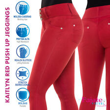 Colombianos Red Push Up Jeans Butt Lifter Jeggings High Waist Levanta Cola Cysm