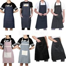 Unisex Chef Cooking Restaurant Kitchen Waiter Baking Bib Apron Dress with Pocket