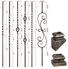 Oil Rubbed Bronze - Twist & Basket Iron Balusters - HOLLOW Wrought Iron