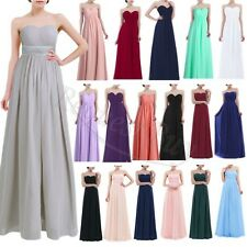 Long Chiffon Wedding Formal Evening Party Bridesmaid Ball Gown Prom Dress Stock