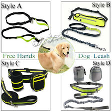 New Adjustable Hands Free Leash Dog  Waist Bag Belt For Jogging Walking Running