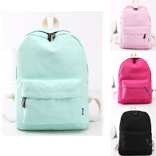 Fashion Girls Canvas Travel Satchel Shoulder Backpacks School Rucksack Bags