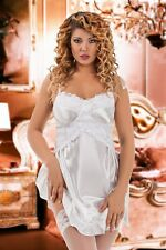Bridal satin sexy Babydoll Lace Lingerie Off Shoulder Plus Size 8-28 chemise