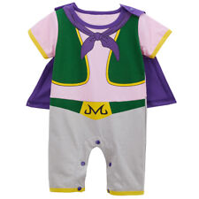 Baby Boy Majin Buu Funny Costume Romper Cute Infant Playsuit with Cape