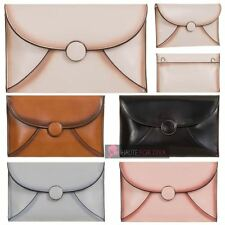 LADIES NEW ENVELOPE DESIGN FAUX LEATHER CLUTCH BAG HANDBAG PURSE