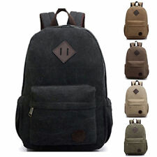 Hot Bag Canvas Men's Vintage Backpack Laptop Shoulder Travel Camping Bag