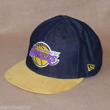 New Era Los Angeles Lakers Densuede 59FIFTY Fitted Hat Baseball Cap - NWT!