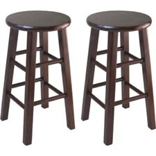 """Wood Counter Bar Stools Wooden Furniture 24"""" Stool Set of 2 Home Barstool Chairs"""