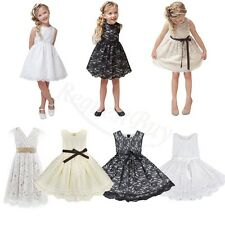 Kid Girl Lace Flower Princess Communion Christening Occasion Wedding Party Dress