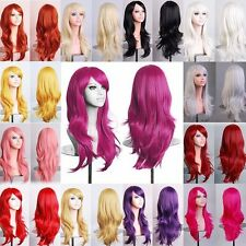 "23"" Women Long Wavy Full Wig Curly Hair Synthetic Cosplay Wigs Party Dress TR2"
