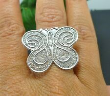 NICE TAXCO MEXICO MEXICAN 925 STERLING SILVER BUTTERFLY RING SZ 6