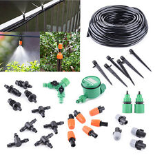 Micro Drip Irrigation System Auto Timer Plant Self Watering Garden Hose DIY Tool